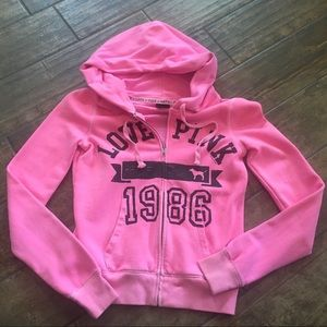 Pink by Pink hoodie - Small
